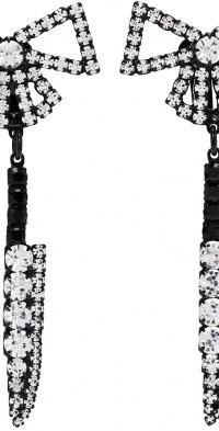 Ashley Williams Black Bow Knife Clip-On Earrings