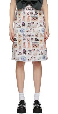 Ashley Williams Multicolor Puppies Slip Skirt