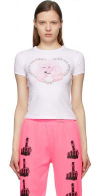 Ashley Williams White Poodle Baby T-Shirt