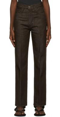AURALEE Brown Hard Twist 5P Jeans