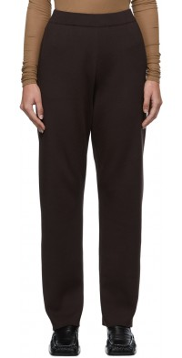 AURALEE Brown Super High Gauge Knit Trousers