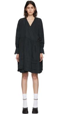 Cecilie Bahnsen Black Amalie Wrap Dress