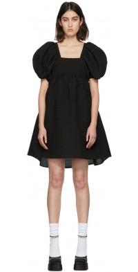 Cecilie Bahnsen Black Matelassé Tilde Blossom Dress