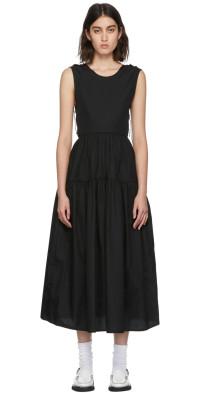 Cecilie Bahnsen Black Organic Cotton Ruth Dress