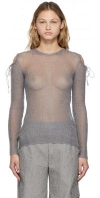 Cecilie Bahnsen Grey Knit Greta Crewneck