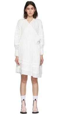 Cecilie Bahnsen White Amalie Wrap Dress
