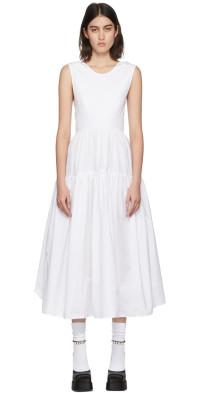 Cecilie Bahnsen White Organic Cotton Ruth Dress