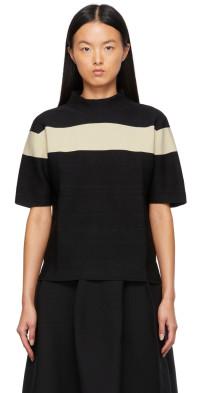 CFCL Black & Taupe Garter T-Shirt