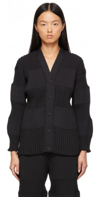 CFCL Black Fluted Cardigan