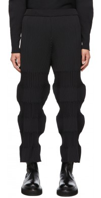 CFCL Black Fluted Lounge Pants
