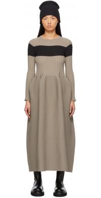 CFCL Taupe & Black Pottery Dress