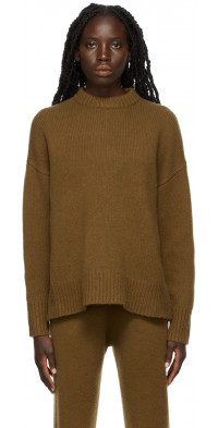 CO Brown Cashmere Boyfriend Sweater