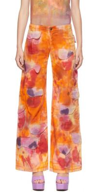 Collina Strada Orange Runway Cargo Trousers