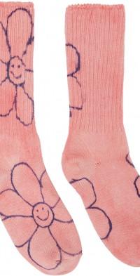 Collina Strada Pink & Blue Happy Flowers Socks