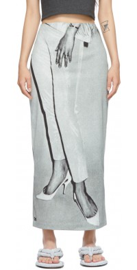 ELLISS Grey Classy Ankle Skirt