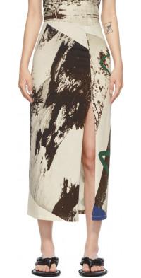 ELLISS Multicolor Seaside Ankle Skirt