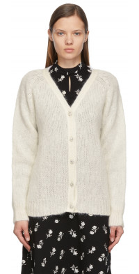 Erdem Off-White Knit Marcilly Cardigan