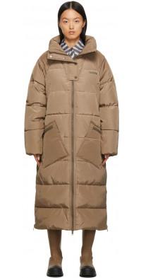 GANNI Beige Puffer Coat