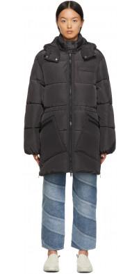 GANNI Black Puffer Coat