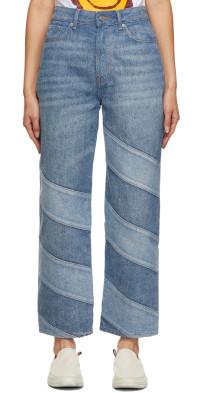 GANNI Blue Cutline Core Misy Denim Jeans