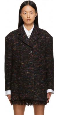 GANNI Multicolor Recycled Wool Blazer