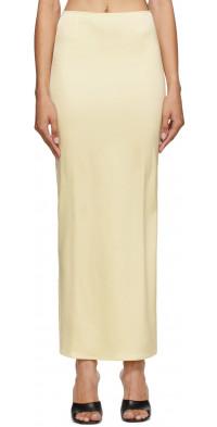 Georgia Alice Yellow Satin Skirt