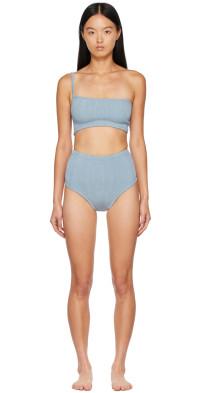 Hunza G Blue Metallic Nile Bikini