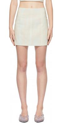 Ichiyo SSENSE Exclusive Blue & Beige Organza Miniskirt