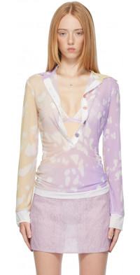 Ichiyo SSENSE Exclusive Purple & Yellow Shadow Long Sleeve T-Shirt