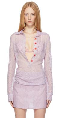 Ichiyo SSENSE Exclusive Purple Long Sleeve Lace Shirt