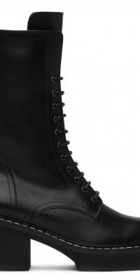 Khaite Leather Cody Mid-Calf Boots