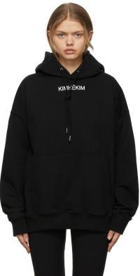 KIMHEKIM Black Small Logo Hoodie