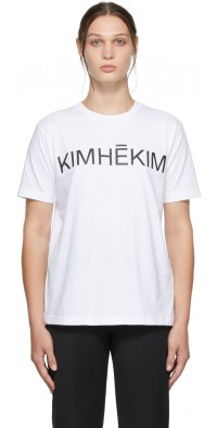 KIMHEKIM White Logo T-Shirt