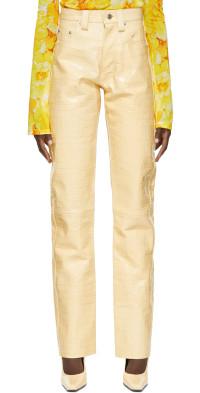 Kwaidan Editions Croco Leather Trousers