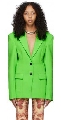 Kwaidan Editions Green Wool Double-Faced Blazer