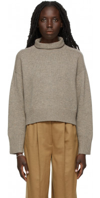 Loulou Studio Beige Oversize Stintino Turtleneck Sweater