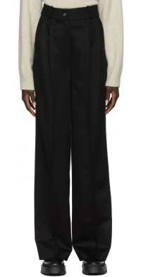 Loulou Studio Black Loro Piana Edition Restinga Trousers