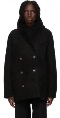 Loulou Studio Black Shearling Cebu Jacket