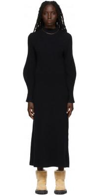 Loulou Studio Black Tesoro Mid-Length Dress