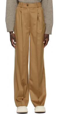 Loulou Studio Tan Loro Piana Edition Restinga Trousers