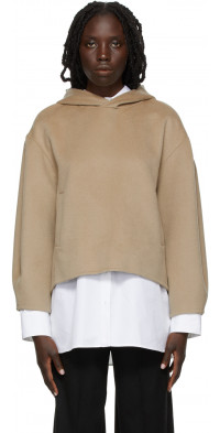 Loulou Studio Taupe Cashmere Pollos Hoodie