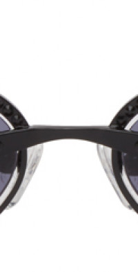 Magda Butrym Black Linda Farrow Edition Cat-Eye Sunglasses