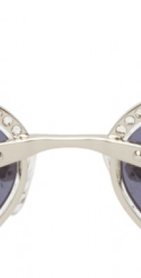 Magda Butrym Silver Linda Farrow Edition Cat-Eye Sunglasses