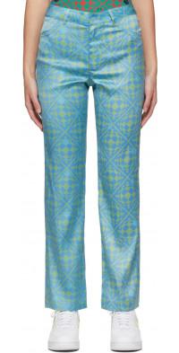 Maisie Wilen Blue & Green Nebula Trousers