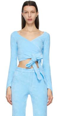 Maisie Wilen Blue Dramady Wrap Cardigan