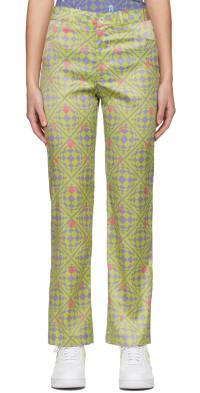 Maisie Wilen Green & Purple Nebula Trousers