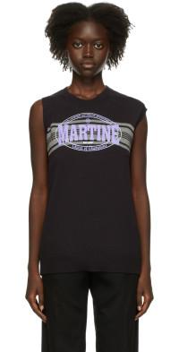 Martine Rose Black Texan Vest Crewneck