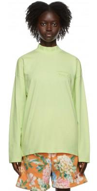Martine Rose Green Classic Logo Long Sleeve T-Shirt