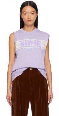 Martine Rose Purple Texan Vest Crewneck