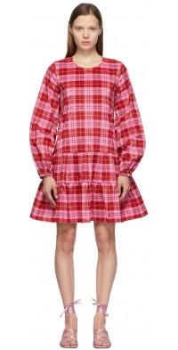 Molly Goddard Pink Check Catrina Dress